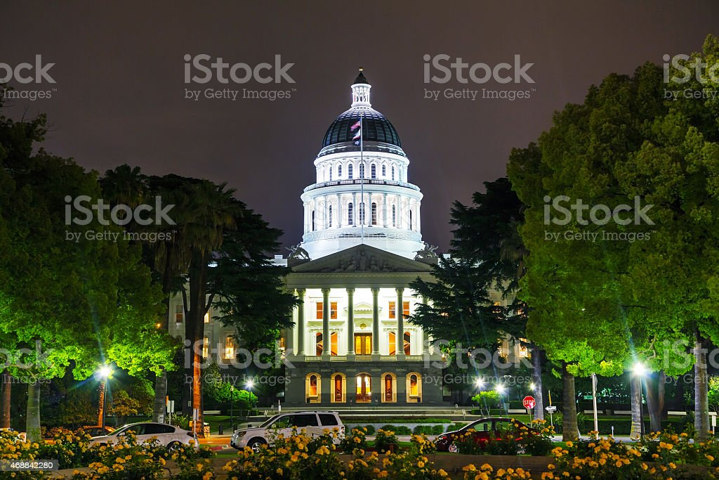 California state capitol building in Sacramento stock photo