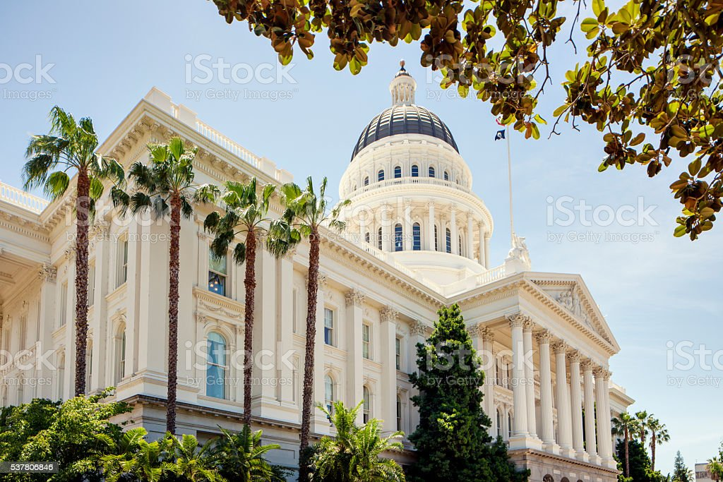 California State Capitol building stock photo
