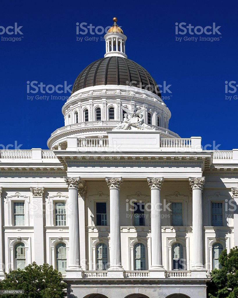 California State Capitol Building - South View stock photo
