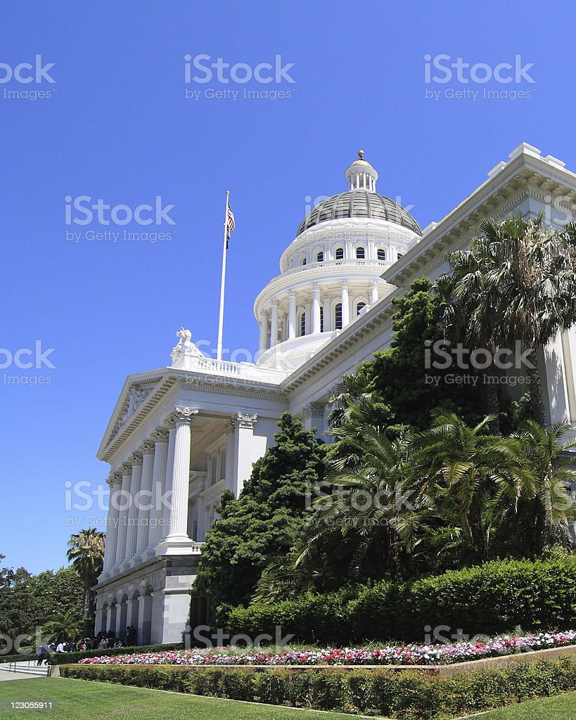 California State Capitol Building Southern View stock photo