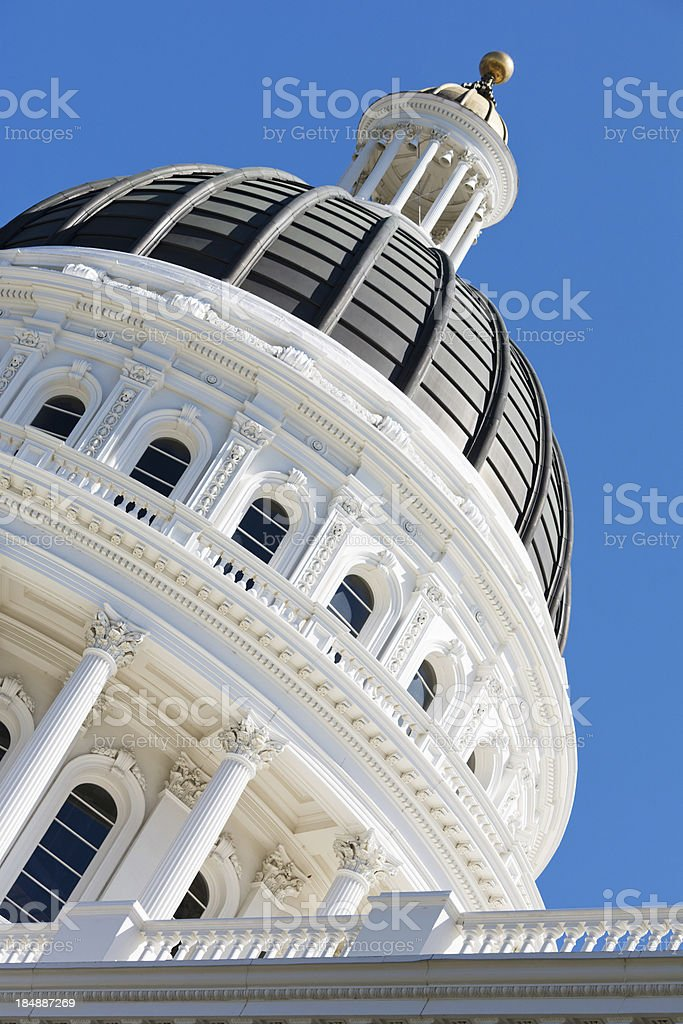 California State Capitol Dome royalty-free stock photo