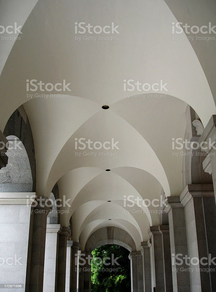 California  state Capitol foyer ceiling stock photo