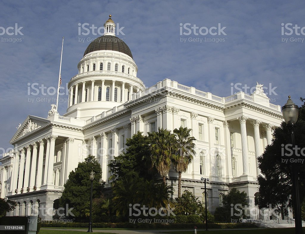 California State Capitol in Sacramento royalty-free stock photo