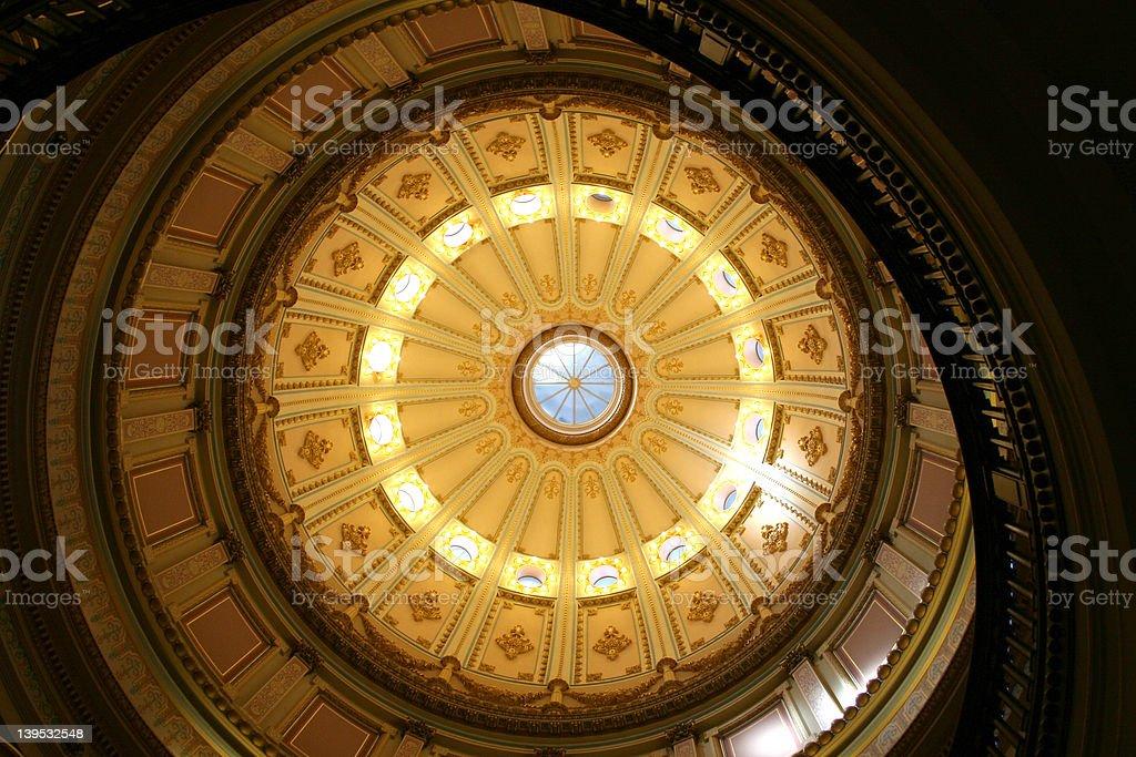 California State Capitol rotunda royalty-free stock photo