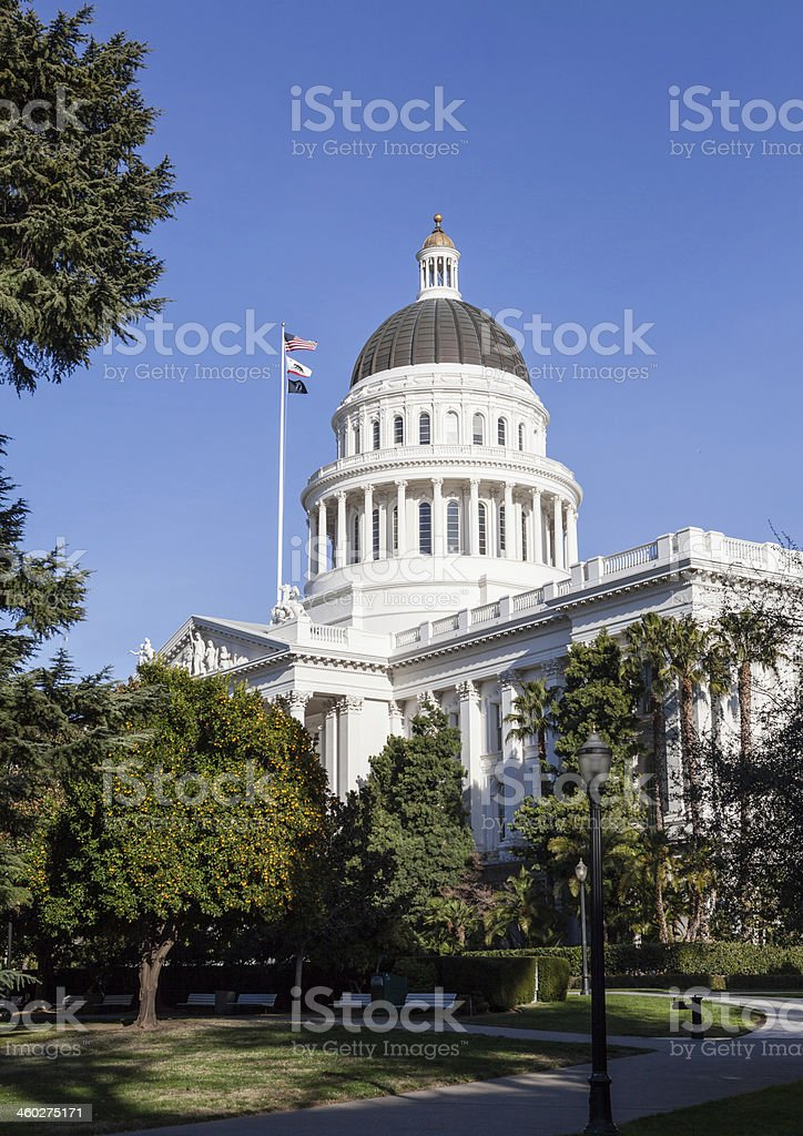 California State House and Capitol Building, Sacramento stock photo