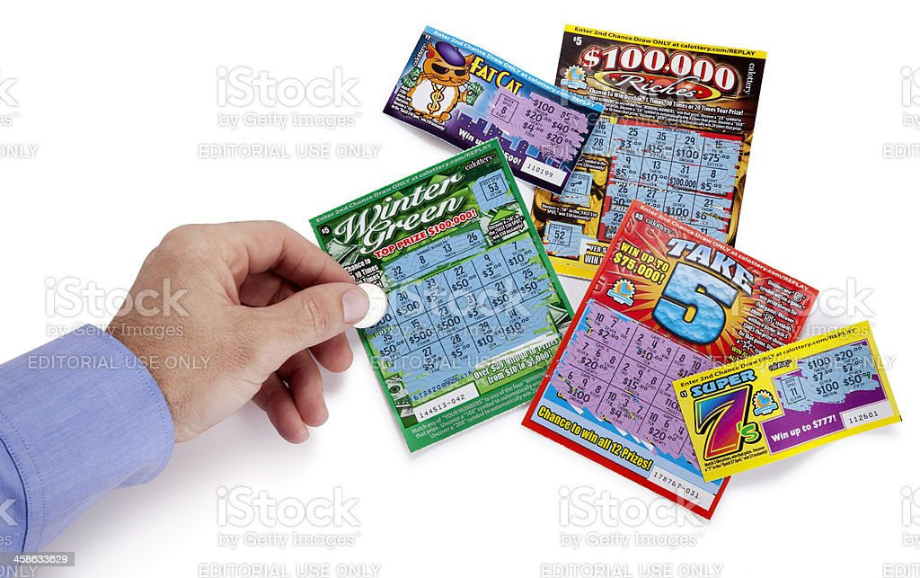 California State Lottery Tickets royalty-free stock photo