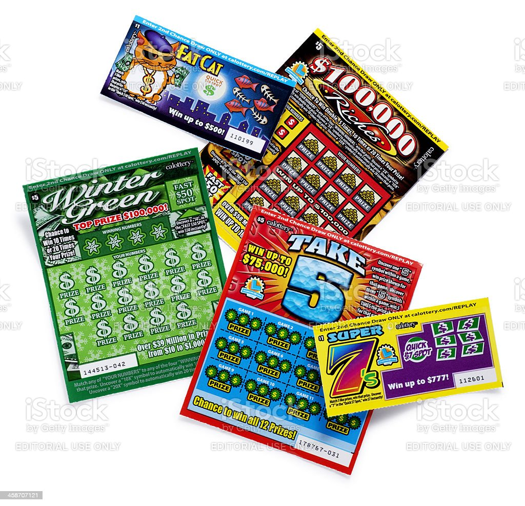 California State Lottery Tickets stock photo