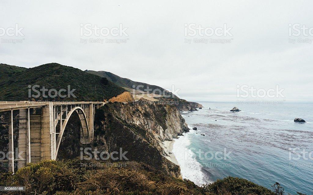 California State Route 1 - Bixby Bridge stock photo