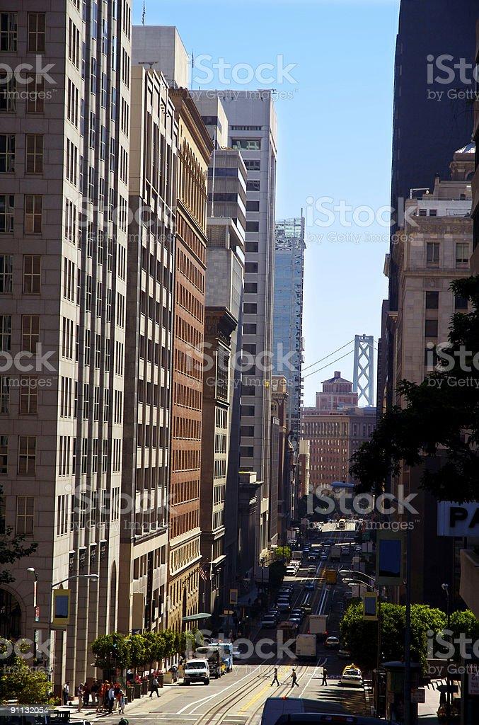 California Street - 2 royalty-free stock photo