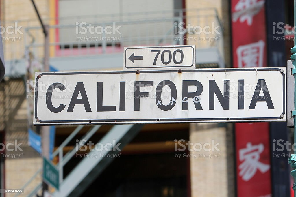 California Street in San Francisco, USA royalty-free stock photo