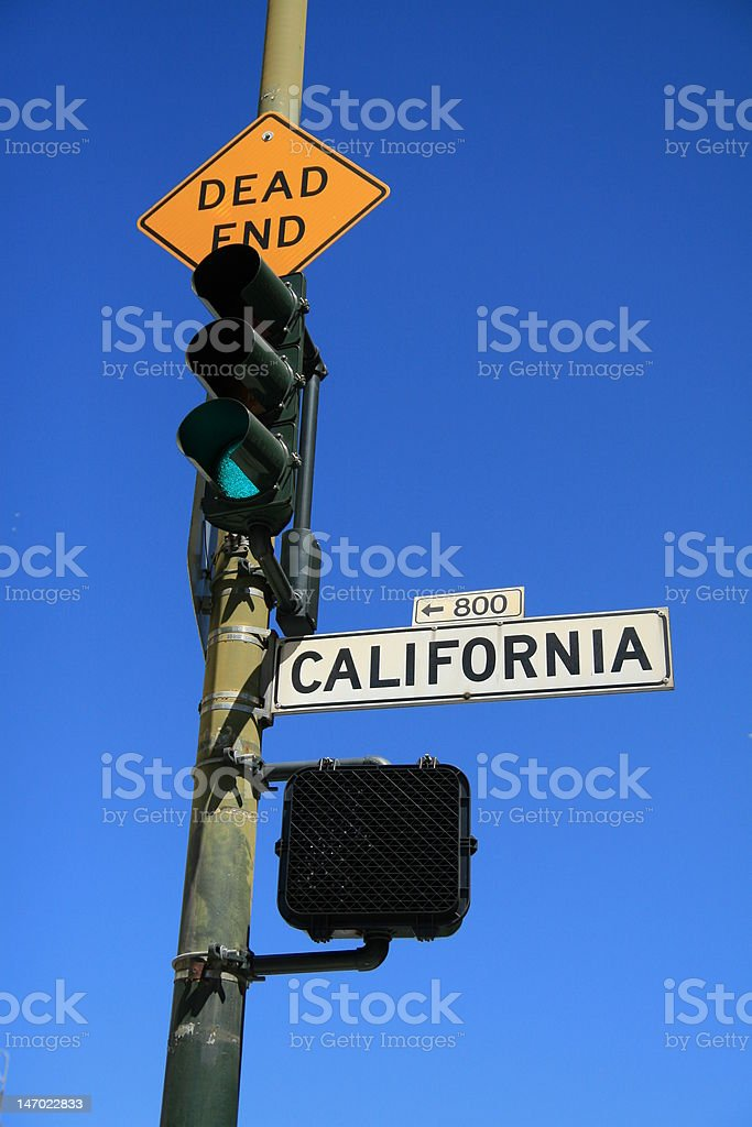 California street  sign and light royalty-free stock photo