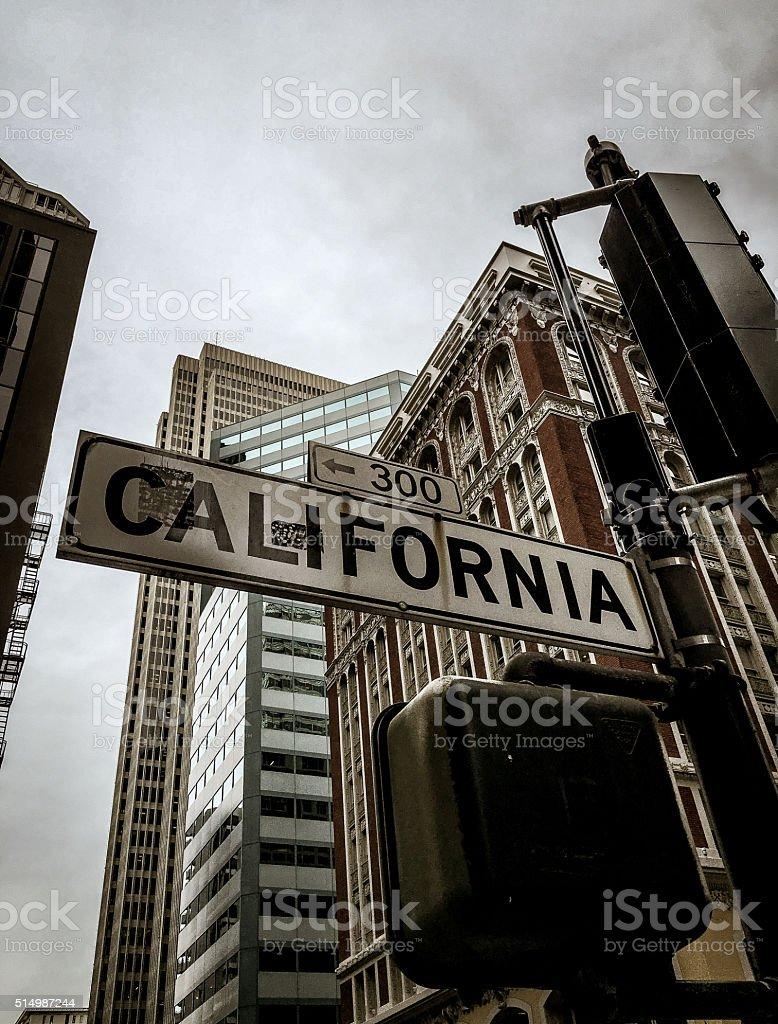California street sign in San Francisco stock photo
