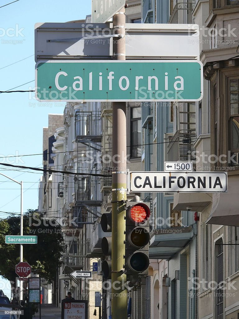 California Street sign royalty-free stock photo