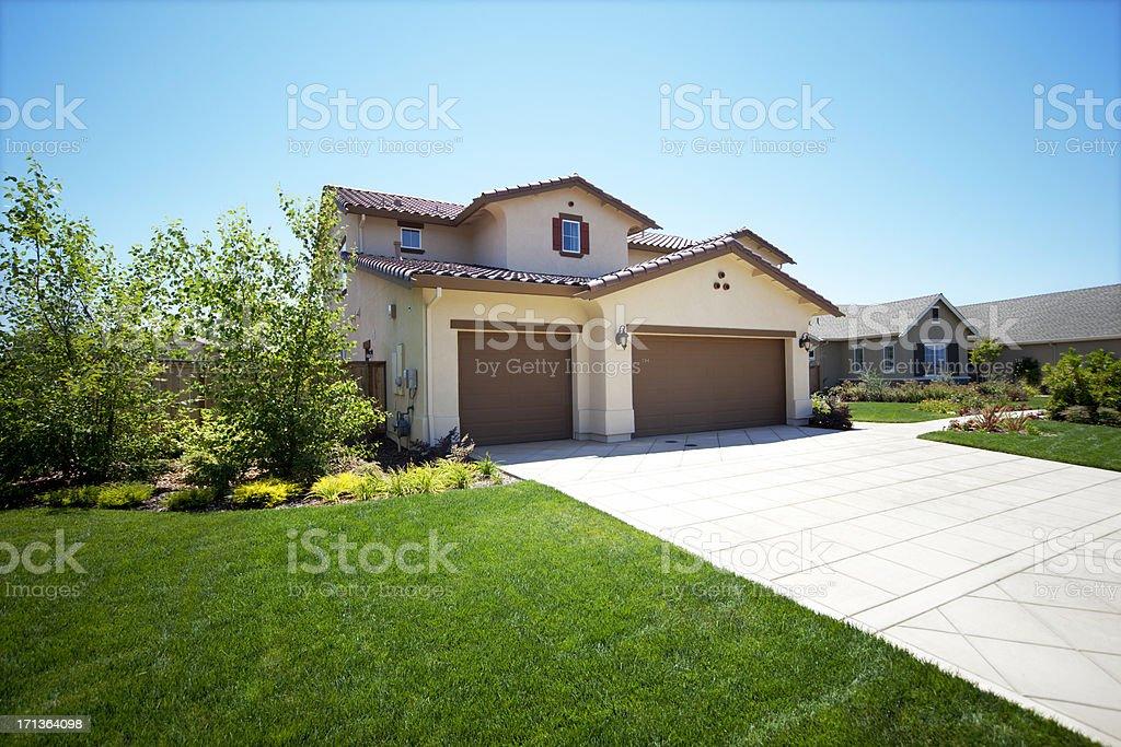 California Suburb House royalty-free stock photo