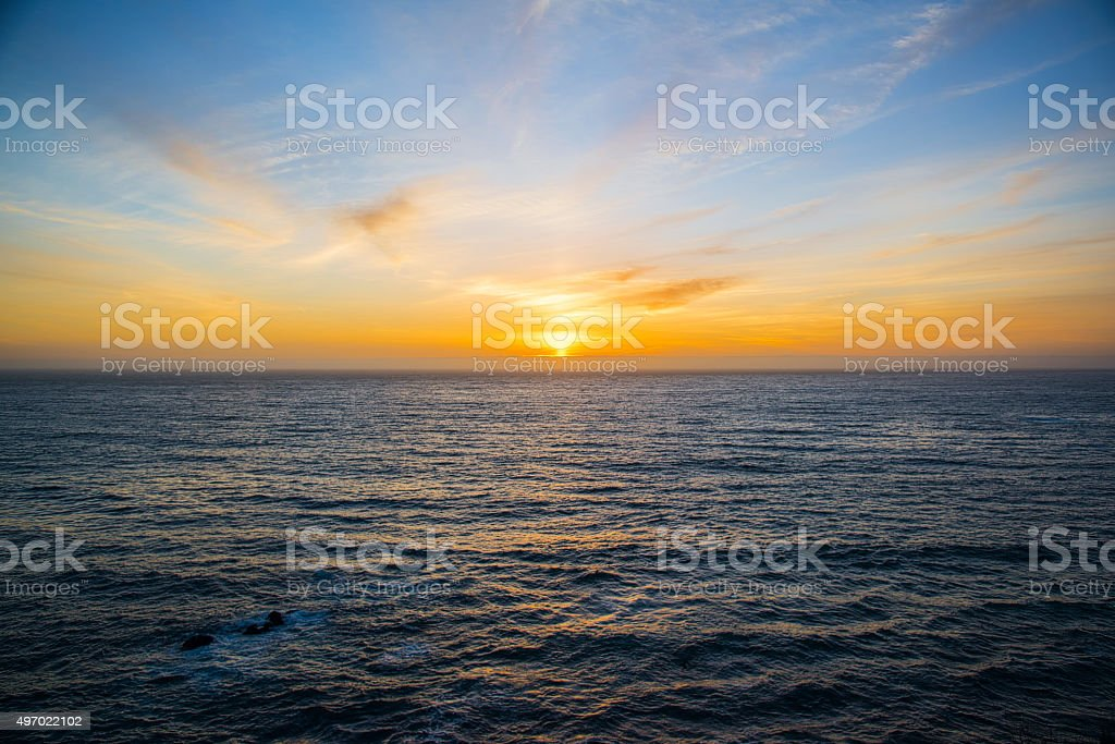 California Sunset stock photo