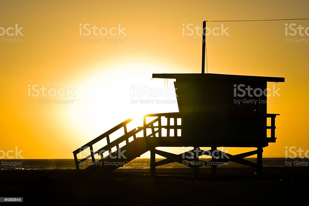 California sunset royalty-free stock photo