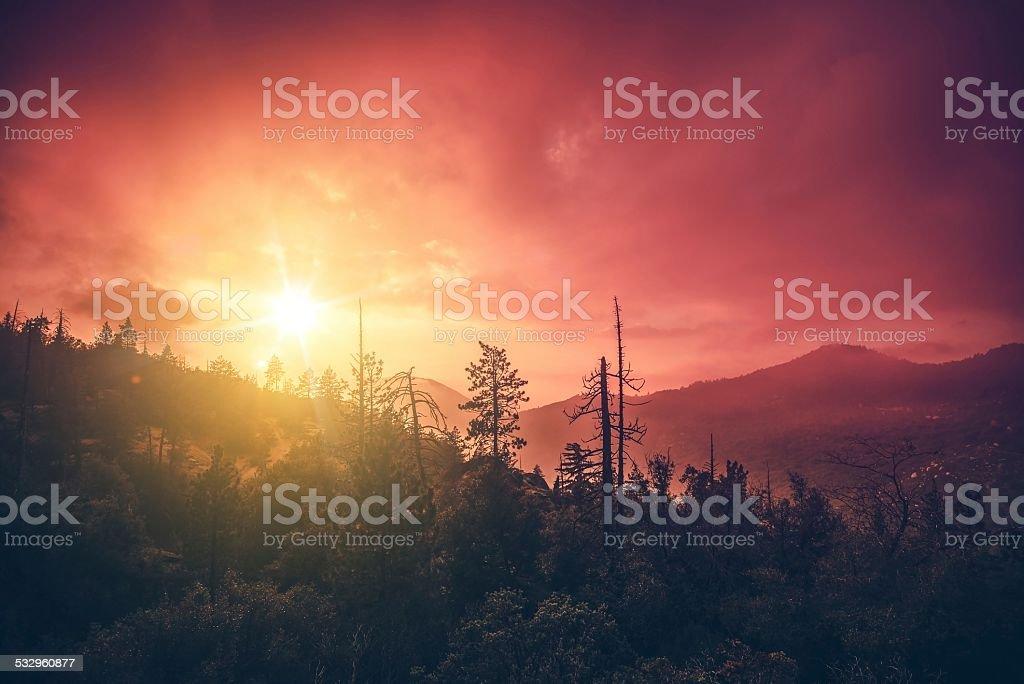 California Sunset Scenery stock photo