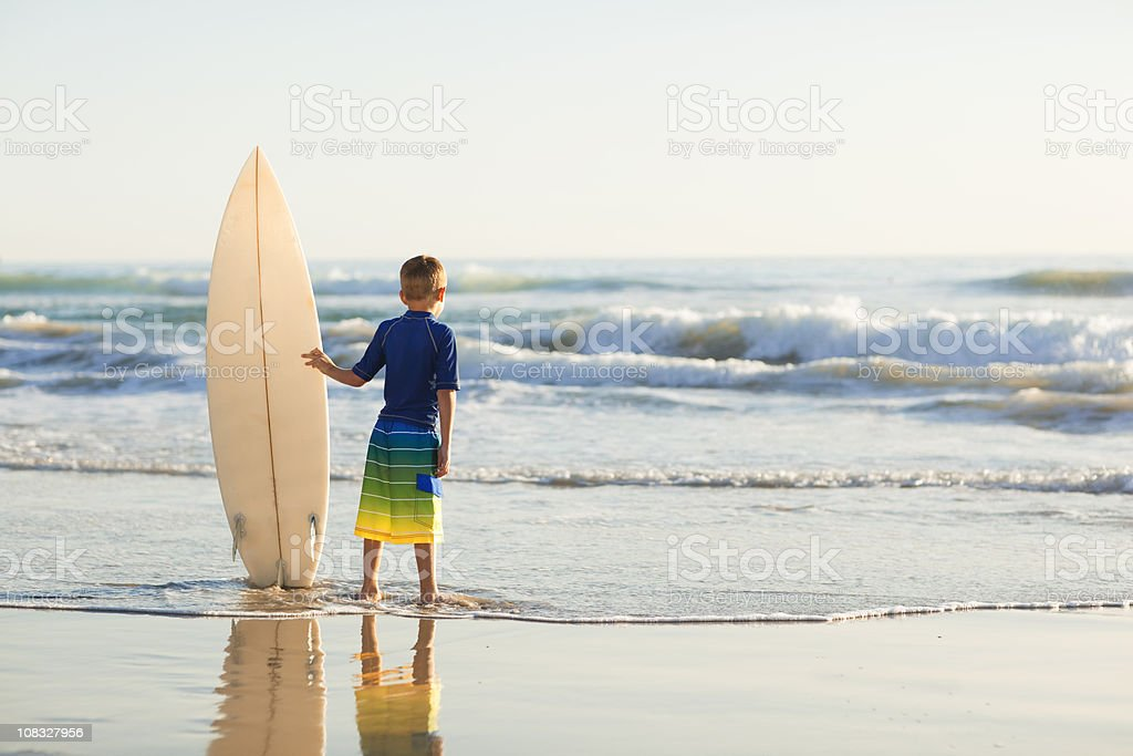California Surfer Boy royalty-free stock photo