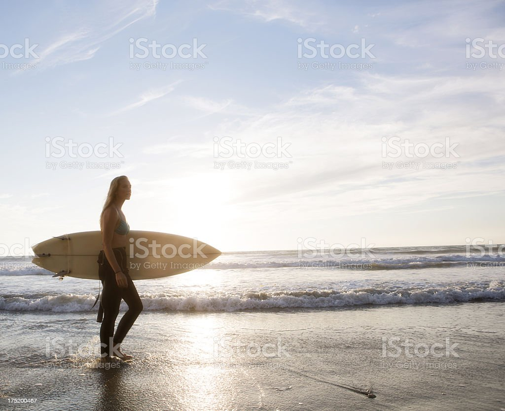 California Surfer girl royalty-free stock photo