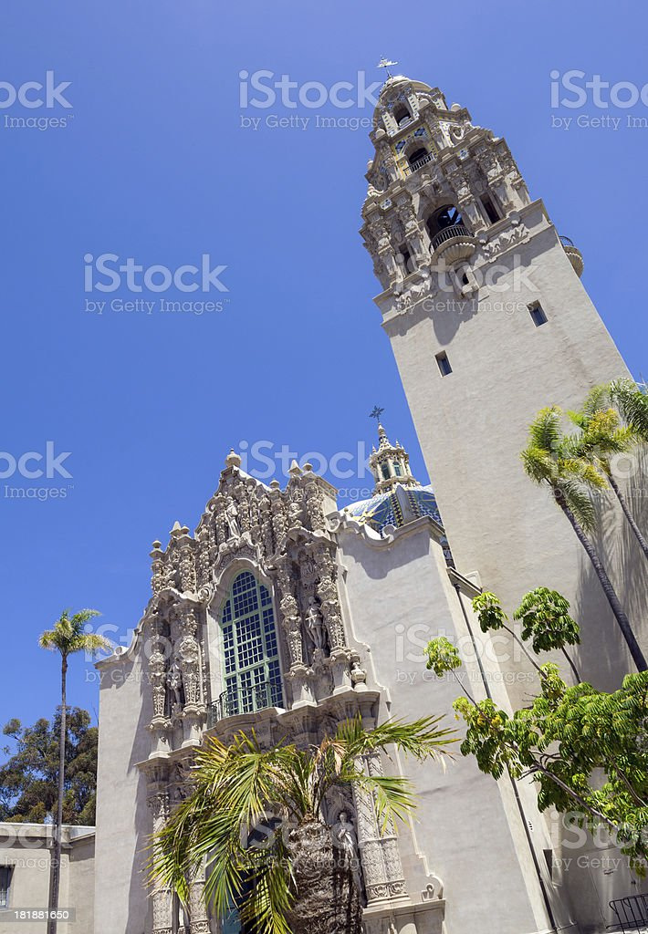 California Tower at Balboa Park in San Diego, CA stock photo