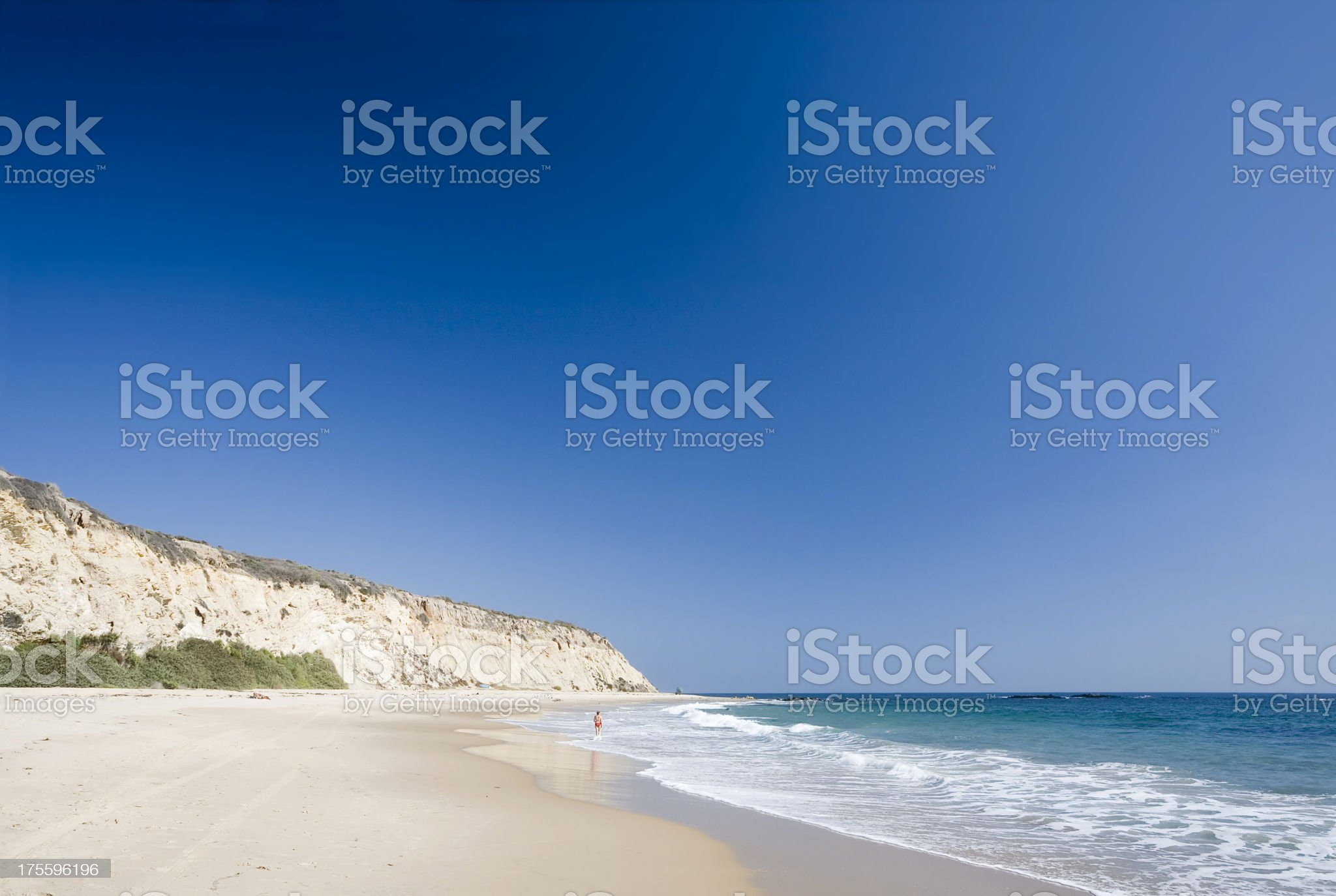 Californian Beach and Pacific Ocean royalty-free stock photo