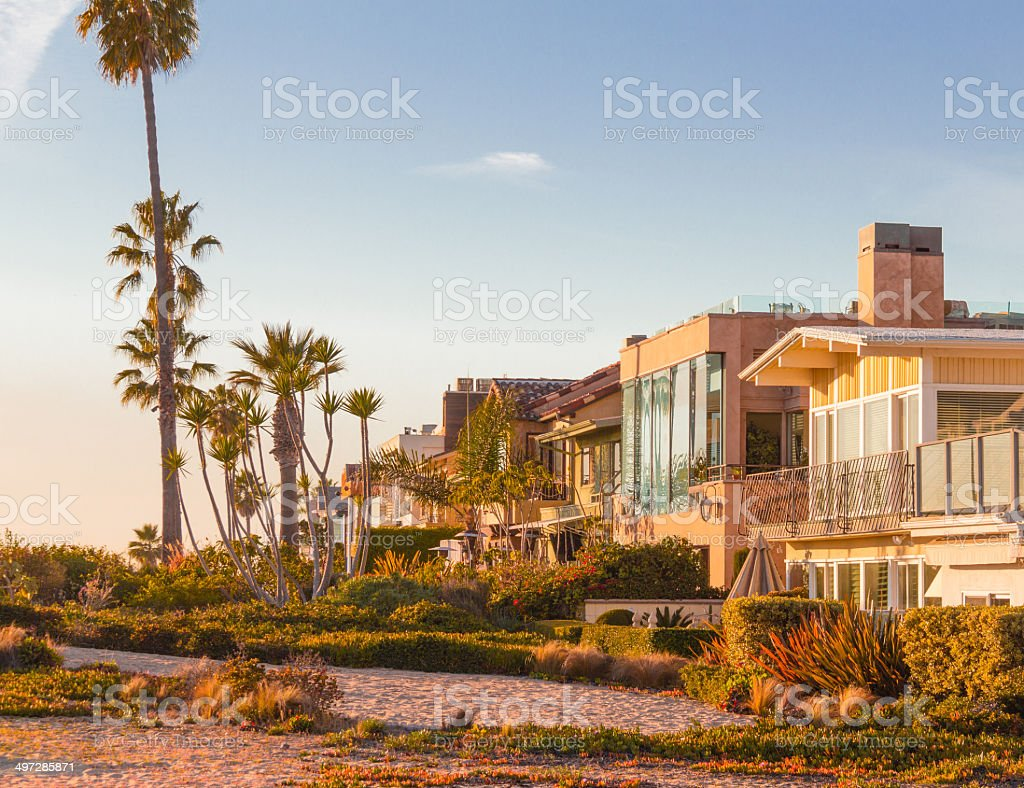 California's Balboa Islands Beach Houses (P) stock photo