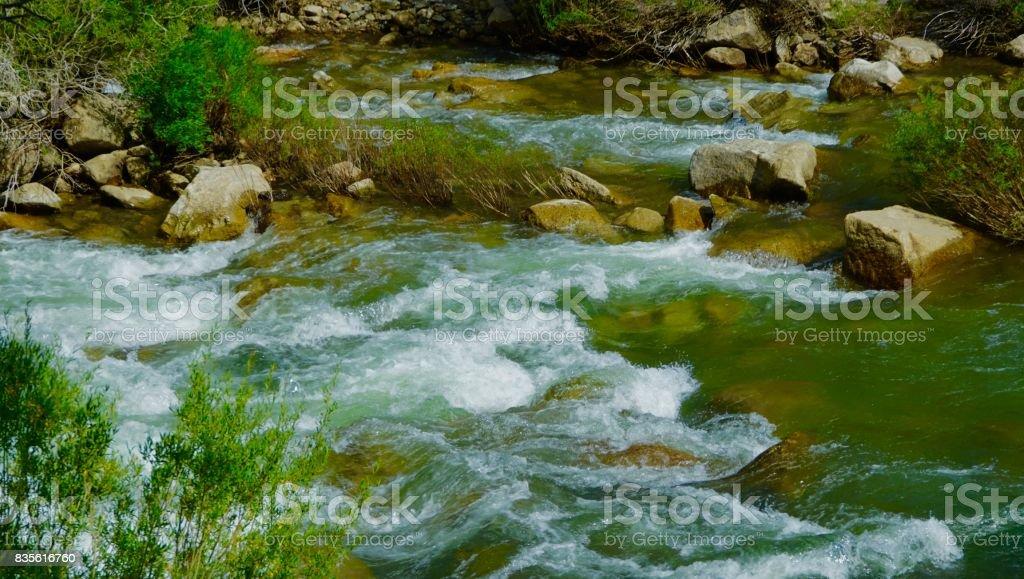 California's Wild Carson River stock photo