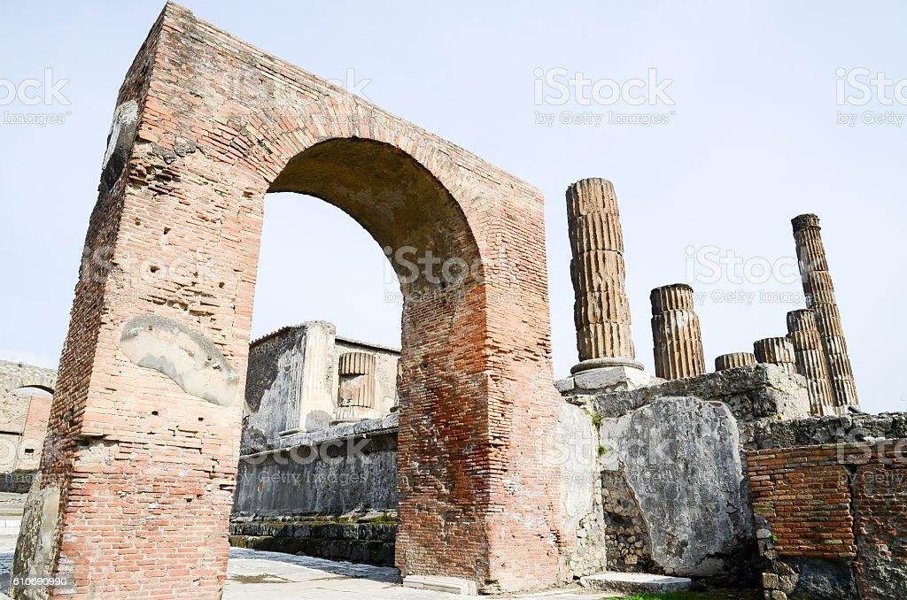 Caligula Triumphal Arch, Pompeii ( Italy ) stock photo
