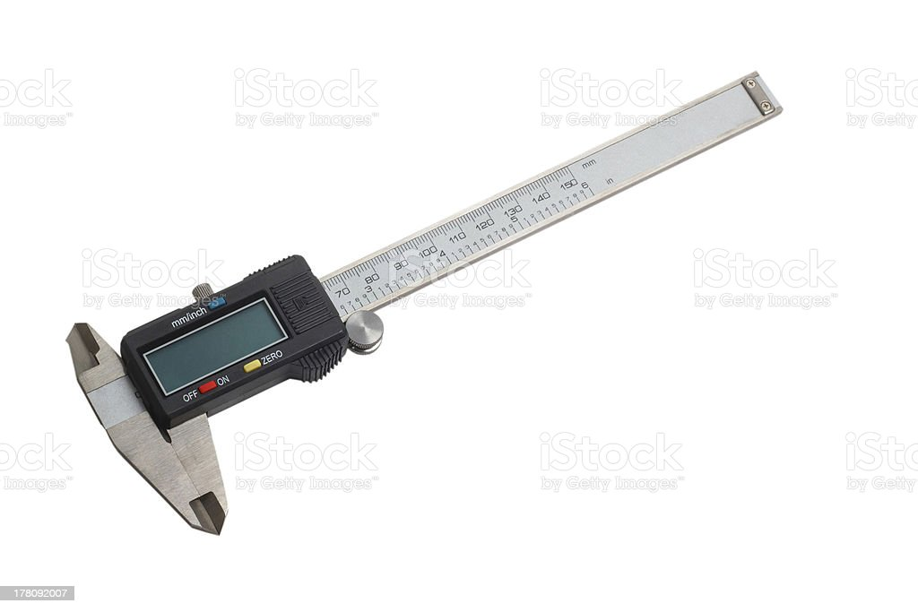 caliper gauge tool royalty-free stock photo