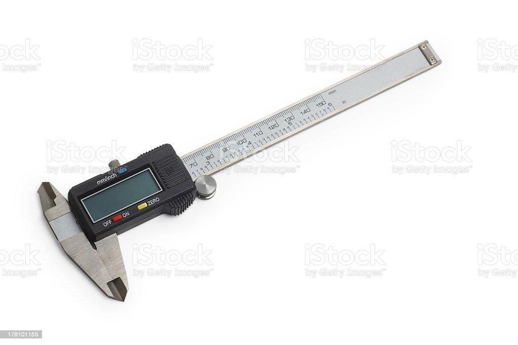 caliper gauge tool vernier white metal instrument measure slide royalty-free stock photo