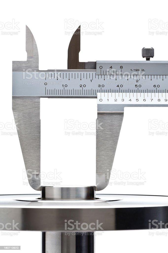 Caliper measurement royalty-free stock photo