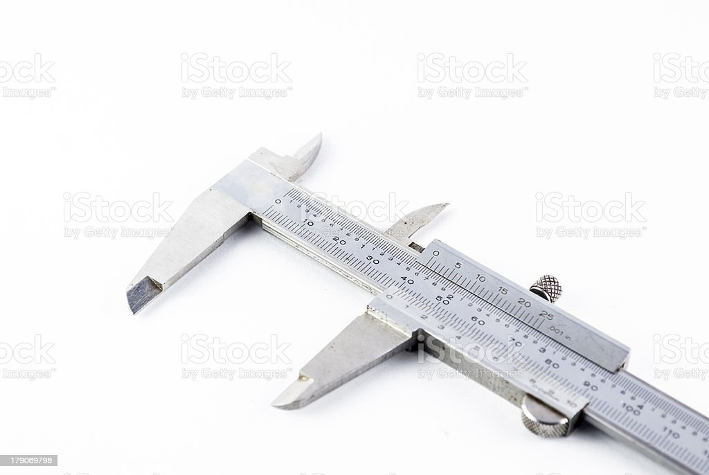 caliper on a white background royalty-free stock photo