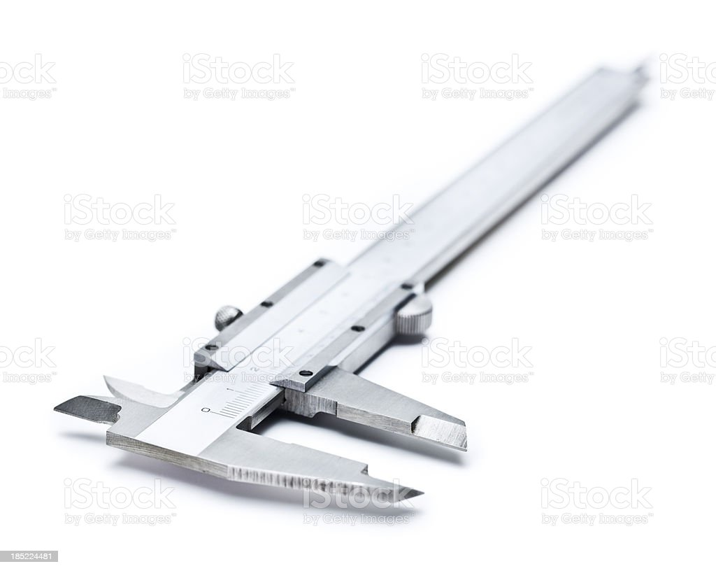 Caliper on white background royalty-free stock photo