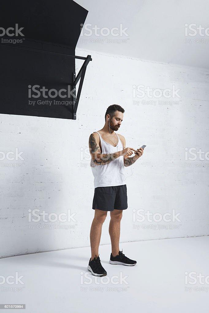 Calisthenic and bodyweight exercises stock photo