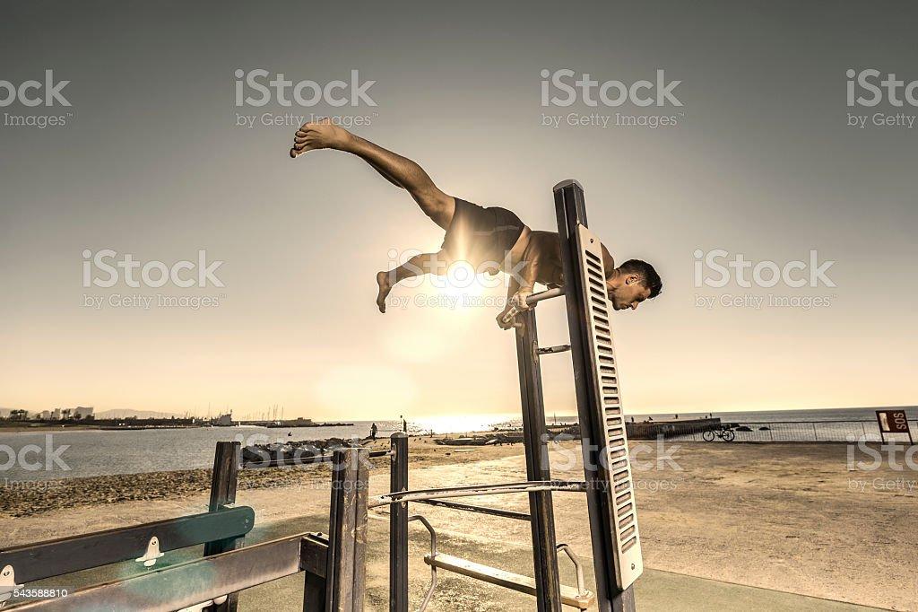 Calisthenics sport stock photo