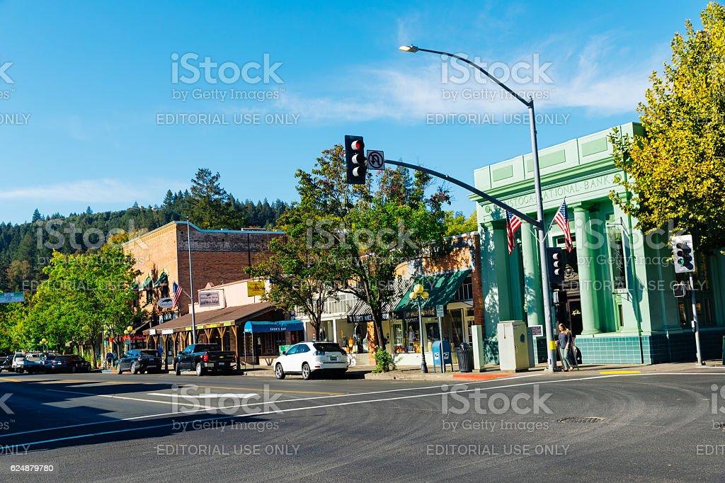 Calistoga, Napa Valley, California, USA stock photo