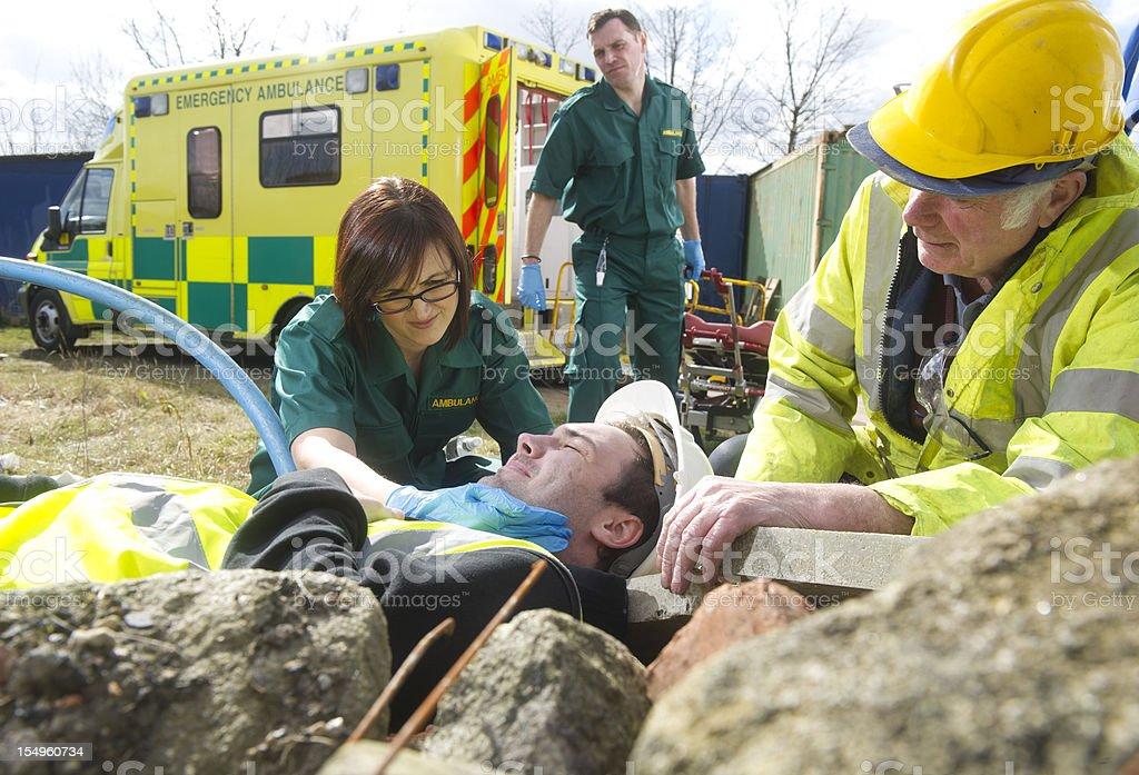 call an ambulance royalty-free stock photo