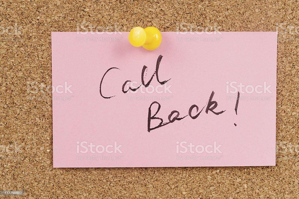 Call back royalty-free stock photo