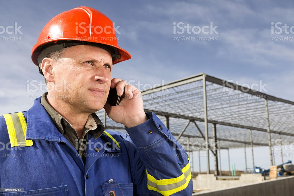 Call Before Construction royalty-free stock photo