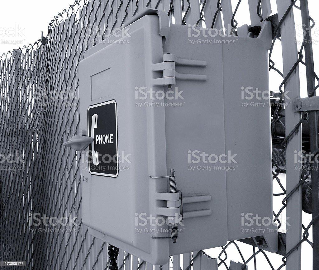 Call box stock photo