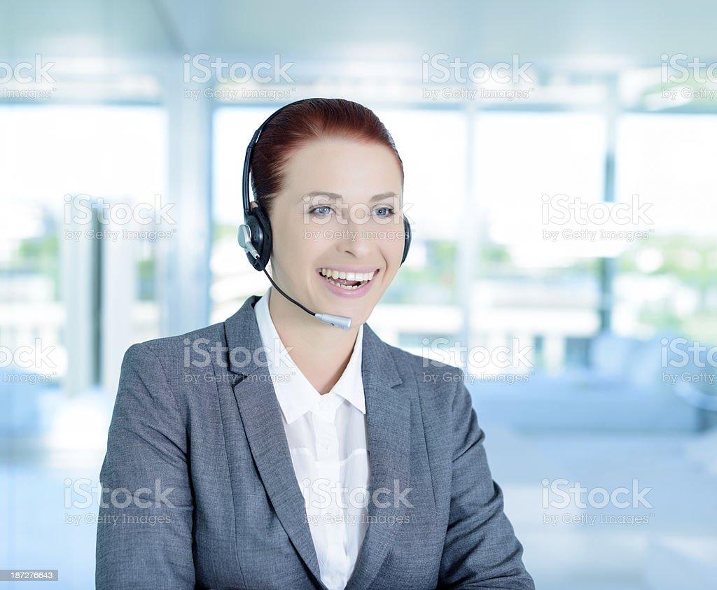 call center employee royalty-free stock photo