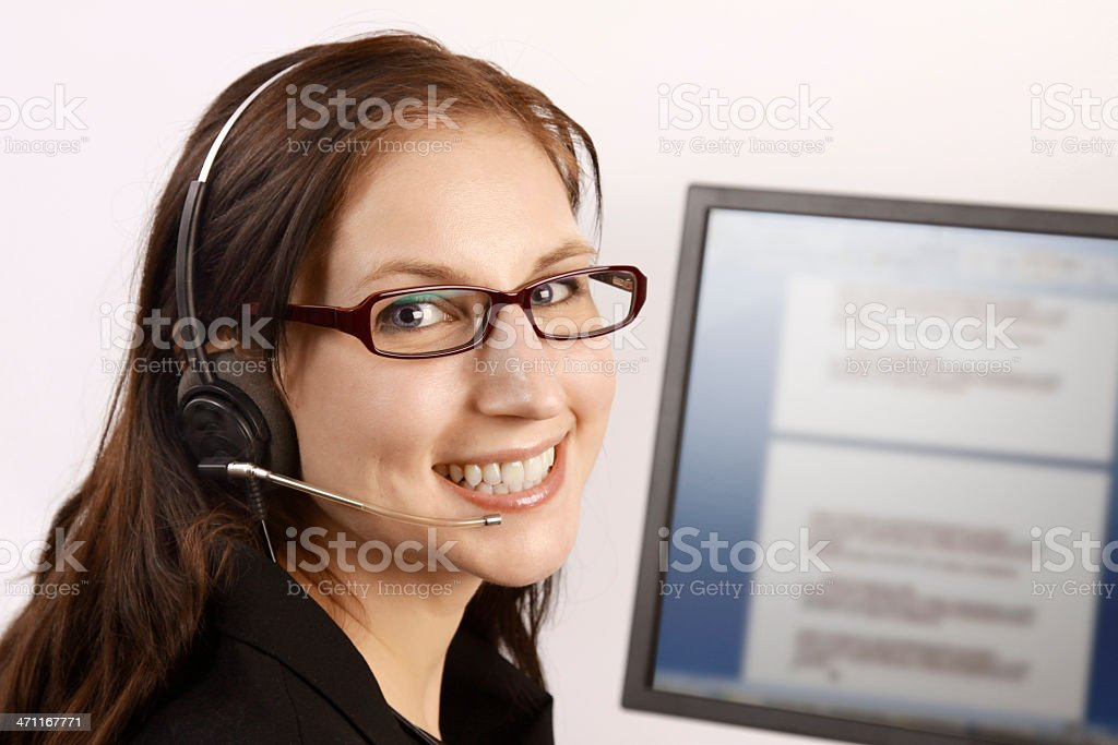 Call Center Lady royalty-free stock photo