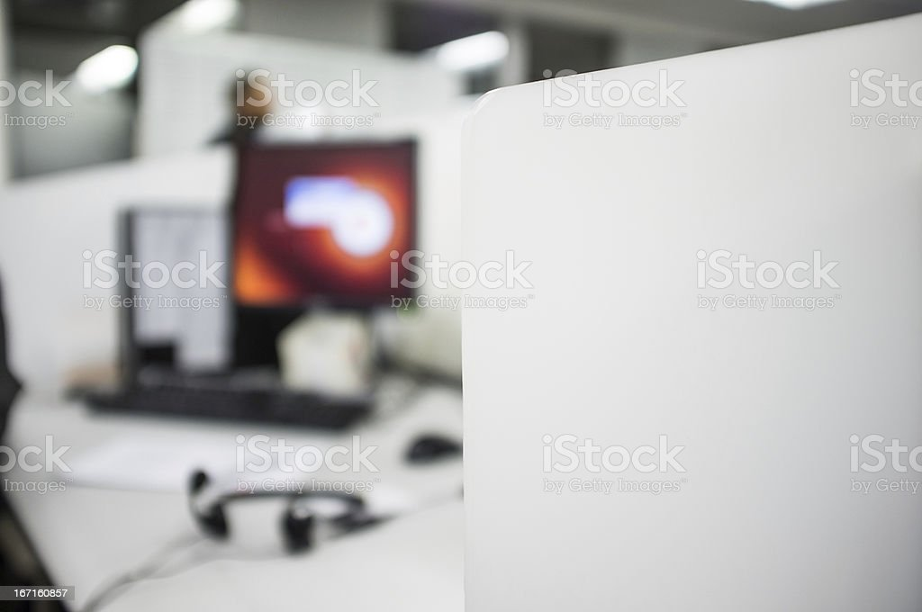 Call center office royalty-free stock photo