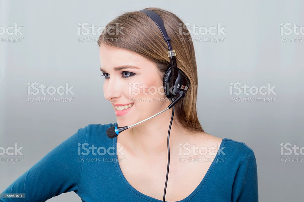 Call center operater stock photo