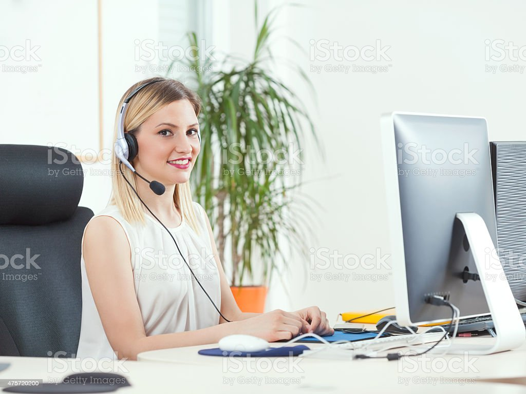 Call Center Operator stock photo