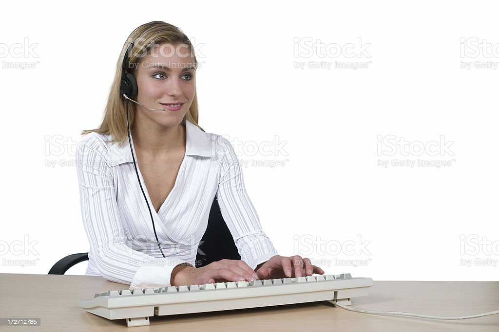 Call center operator working royalty-free stock photo