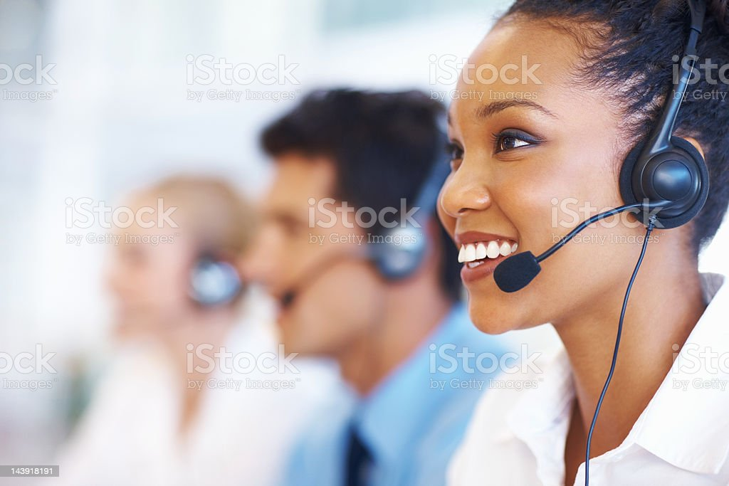 Call center representative stock photo