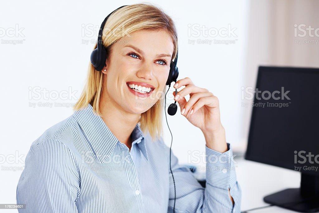 Call center representative stock photo