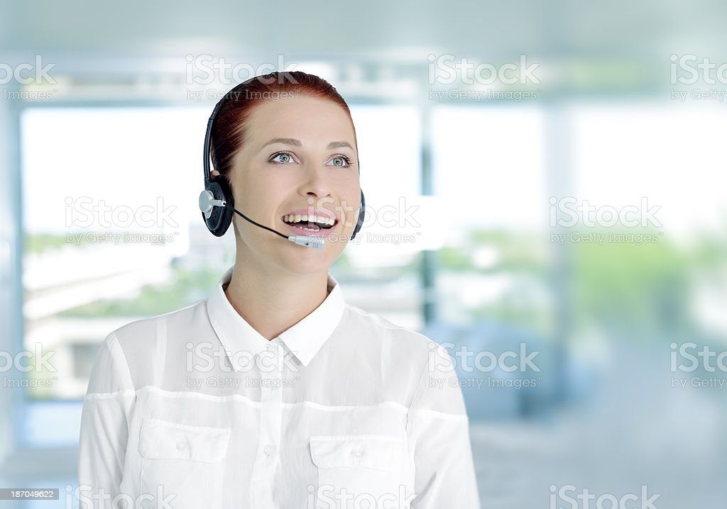 call center reprezentant royalty-free stock photo