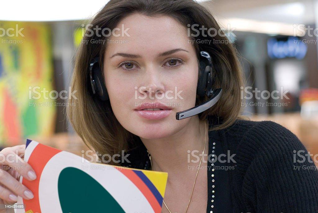 call center secretary royalty-free stock photo